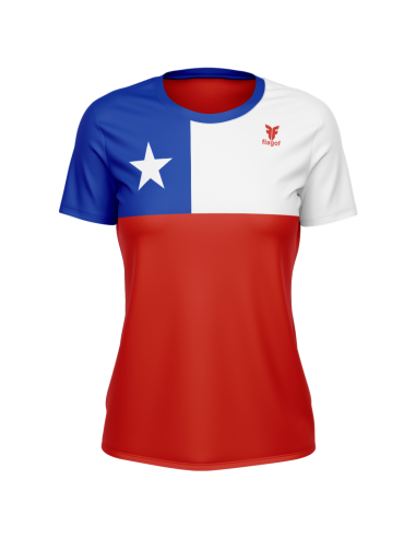 Camiseta bandera Chile